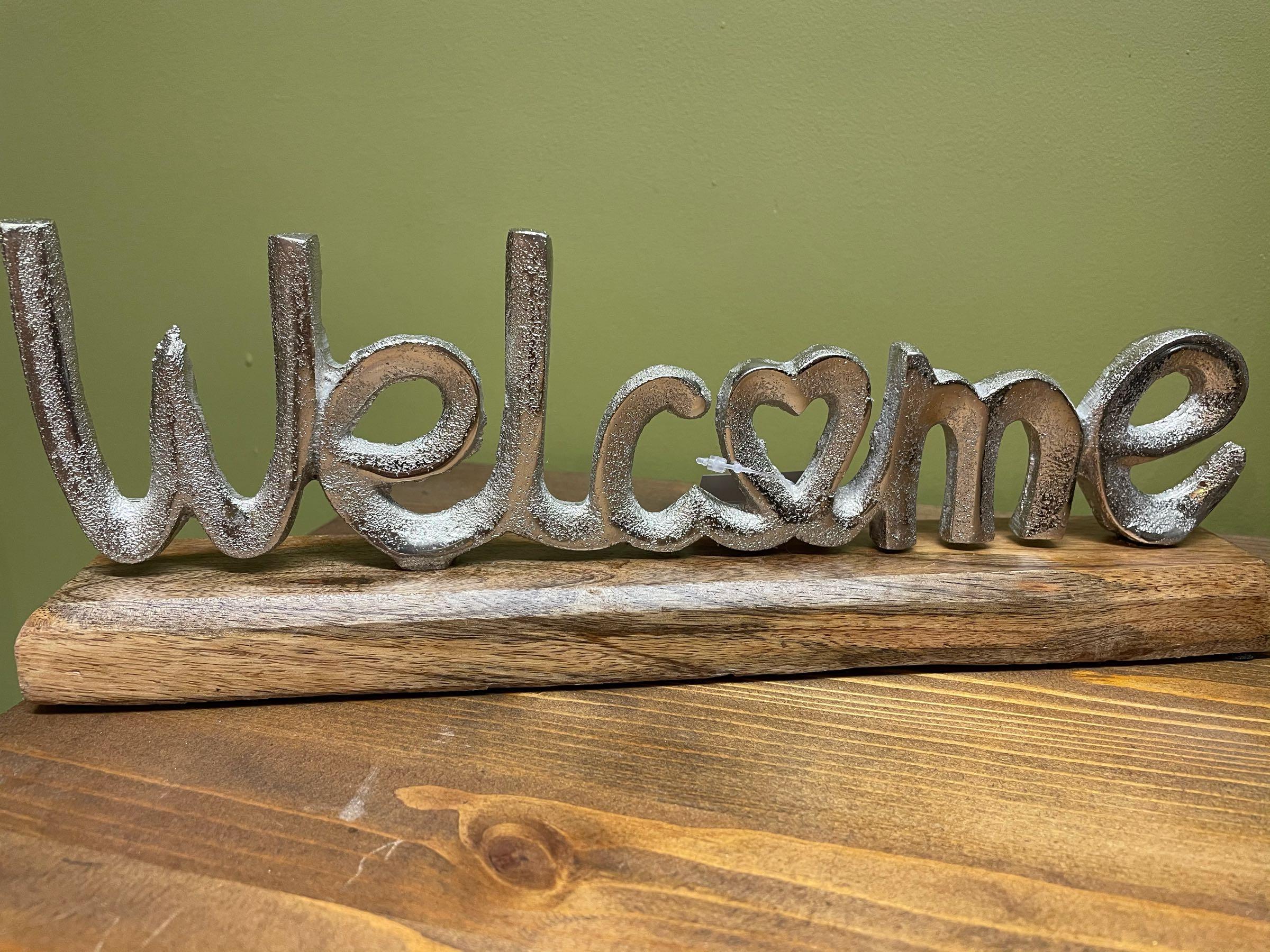Aluminium welcome ornament  30cm
