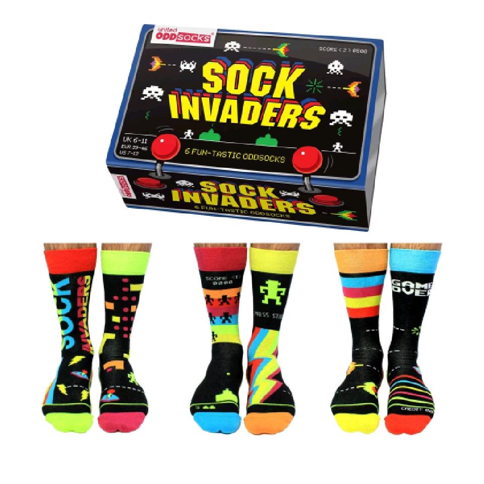 Sock Invaders Socks Gift Set