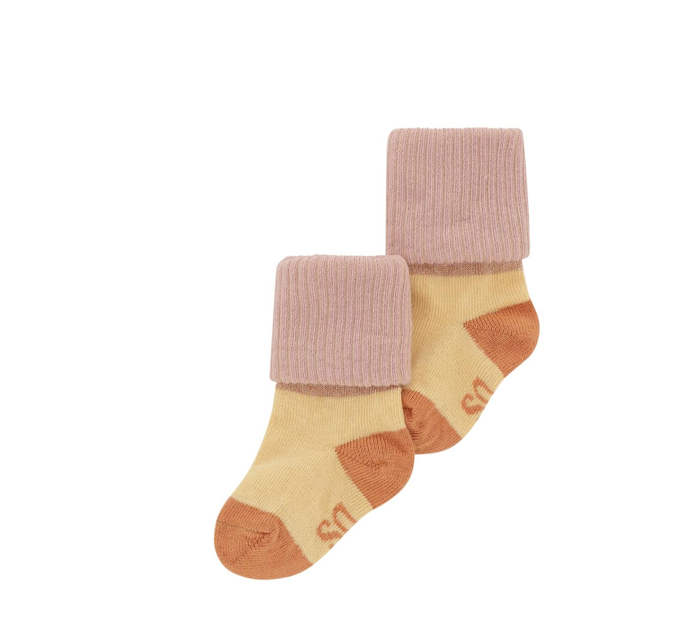 Soft Gallery Baby Girl Socks Beige Blockcolor