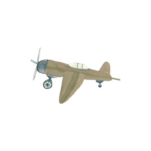THAT'S mine Wandsticker Retro Flugzeug Braun