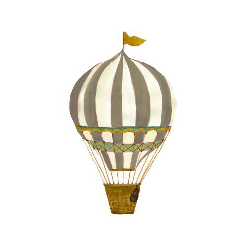 THAT'S mine Wandsticker Retro Heißluftballon Braun groß