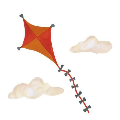THAT'S mine Wandsticker Kite Orange groß