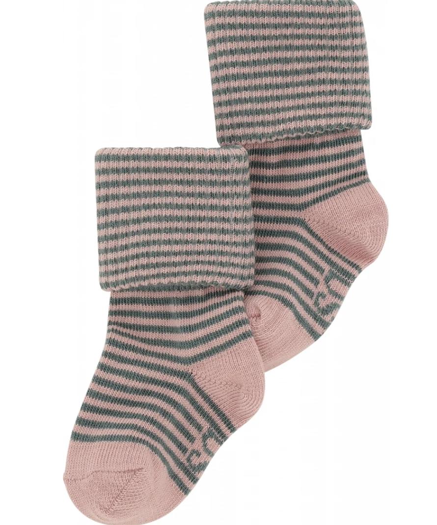 Soft Gallery Baby Girl Socks Pale Mauve Stripes
