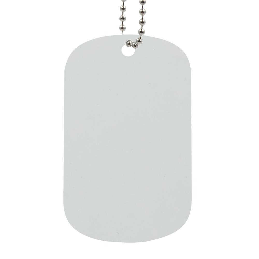 DOG TAG NECKLACE DOUBLE SIDED PRINTABLE - WHITE