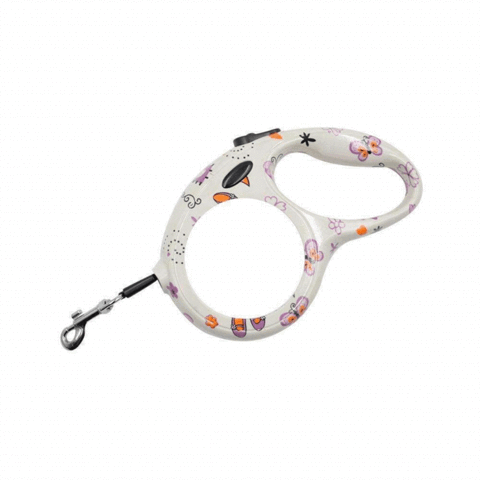 RETRACTABLE PET LEAD BUTTERFLY DESIGN SMALL
