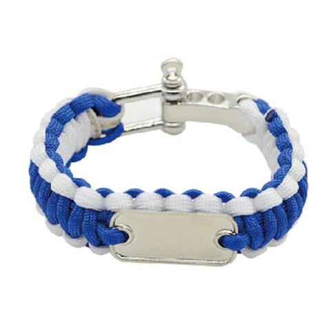 PARACORD BRACELET BLUE & WHITE