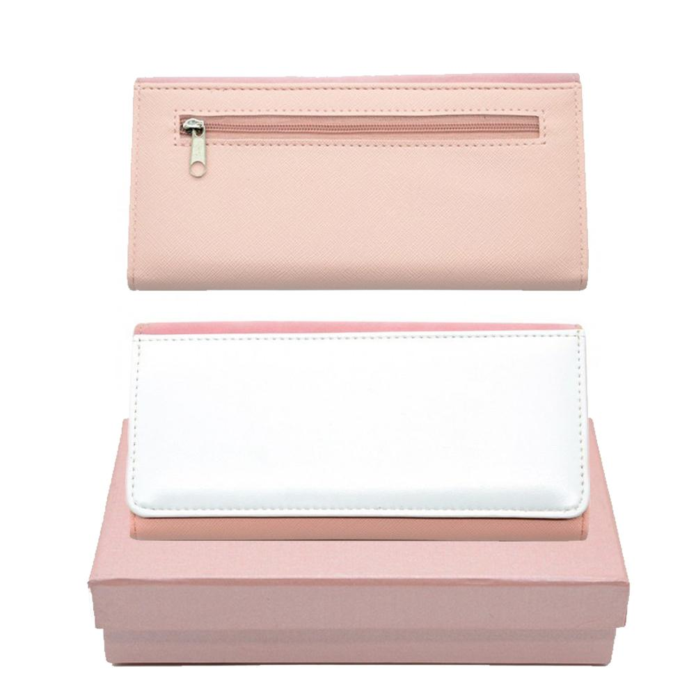 LARGE LEATHER PURSE PINK & GIFT BOX