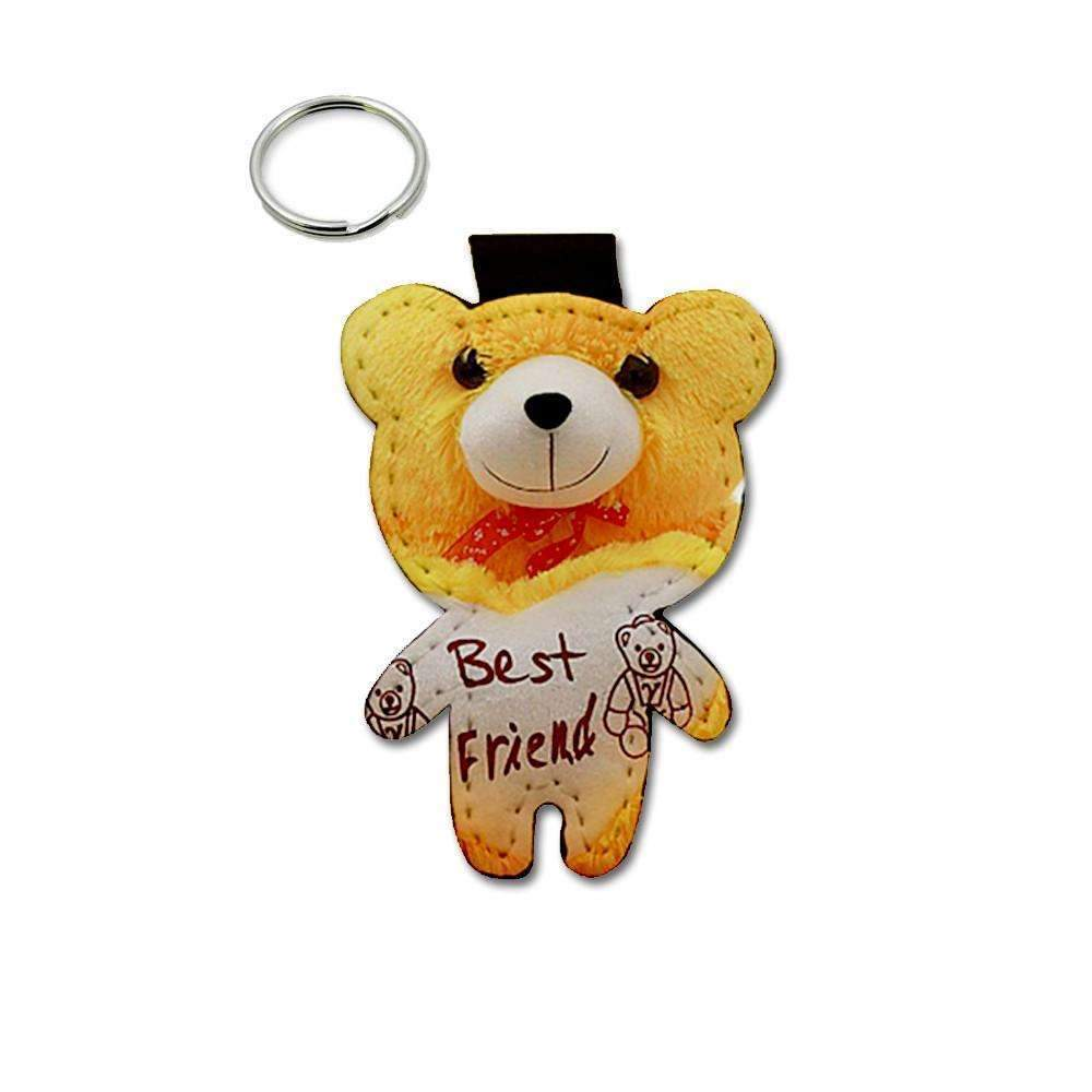 BEAR LEATHER KEYRING