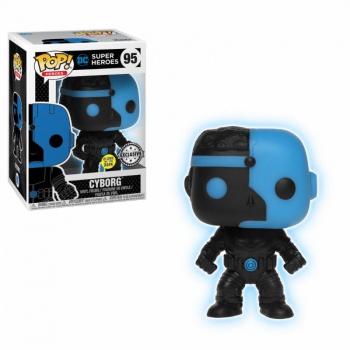 Funko POP! Justice League: Cyborg Silhouette Glow in the Dark Vinyl Figure 10cm