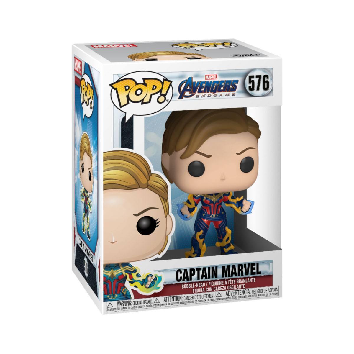 Avengers: Endgame POP! Movies Vinyl Figure Captain Marvel w/New Hair 9 cm