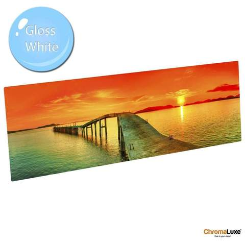 "Gloss White Aluminium Photo Panel 7.9"" x 11.8"""