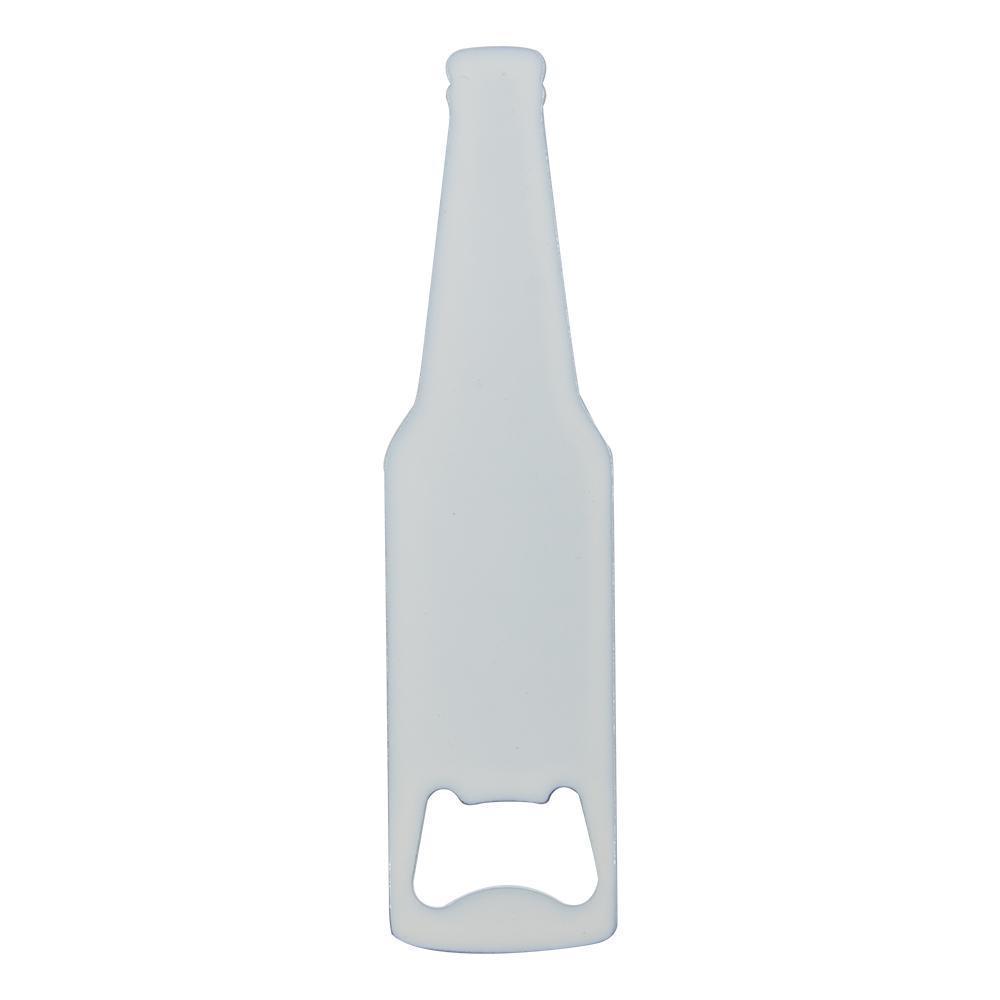 BOTTLE SHAPED BOTTLE OPENER - WHITE