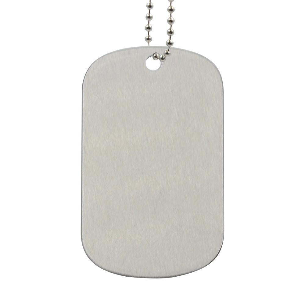 DOG TAG NECKLACE DOUBLE SIDED PRINTABLE - SILVER