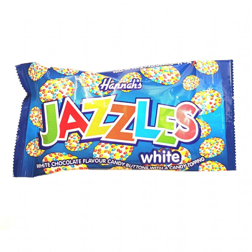White Chocolate Jazzles 40g Bag