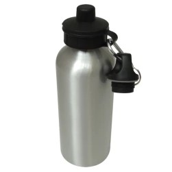 WATER BOTTLE 600ML SILVER