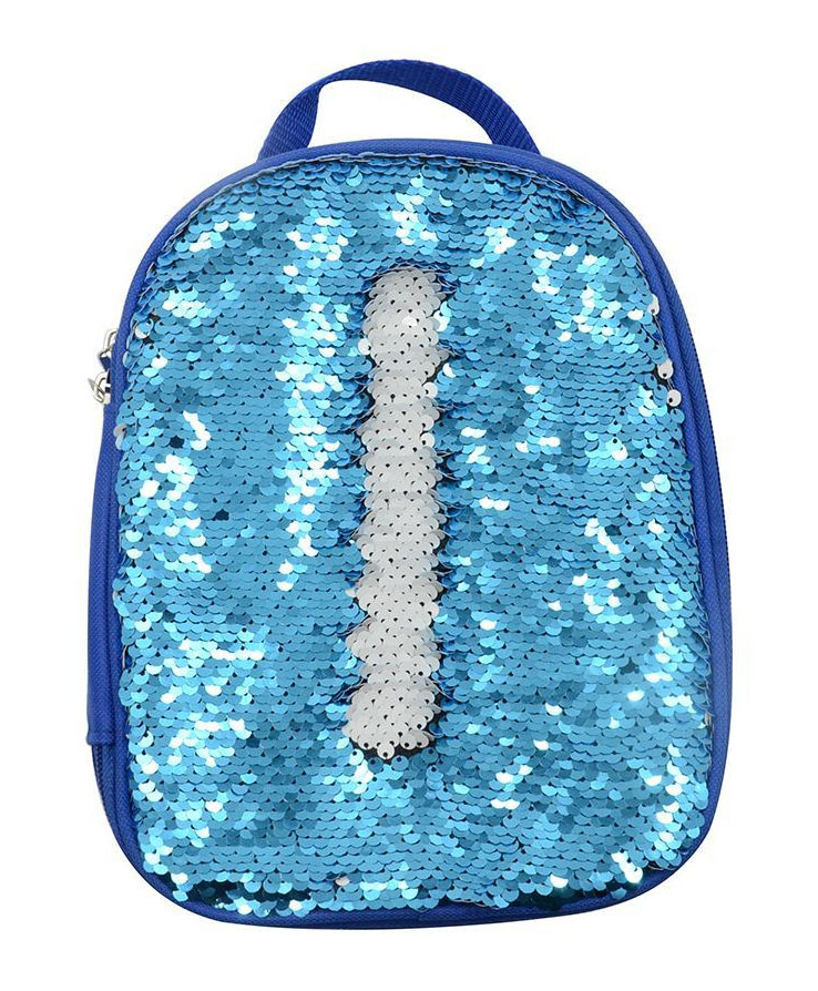 Kids Blue Sequin Lunch Bag