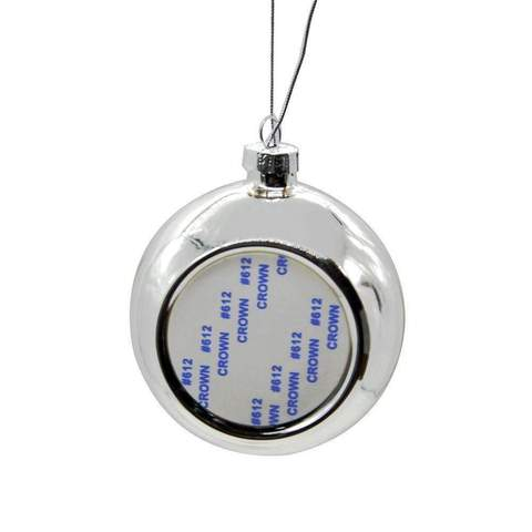 CHRISTMAS BAUBLE -SILVER