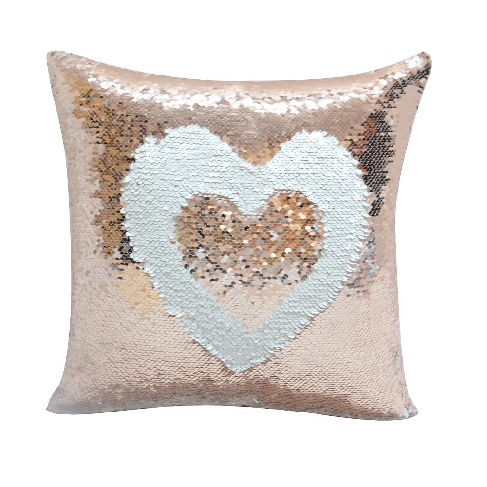 CHAMPAGNE GOLD SEQUIN CUSHION