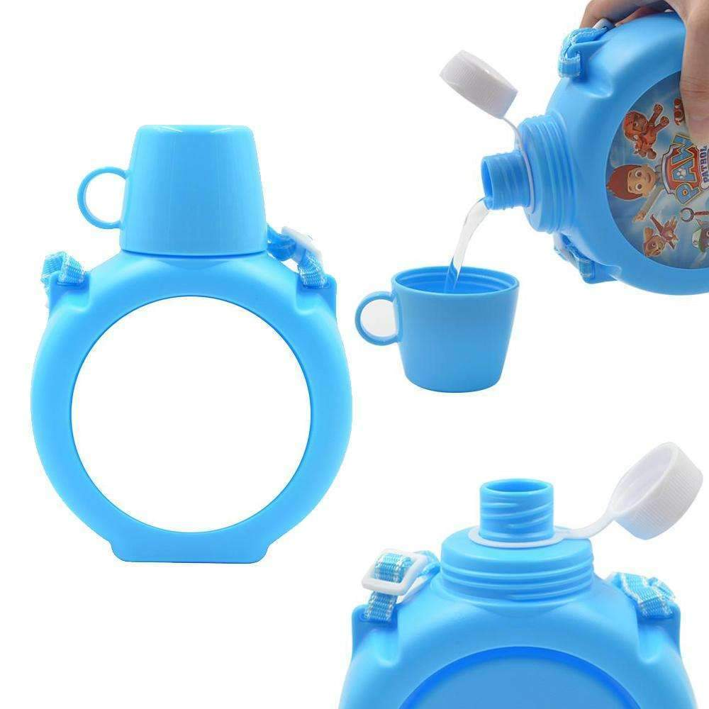 KIDS POLYMER WATER BOTTLE BLUE (WITH CUP)
