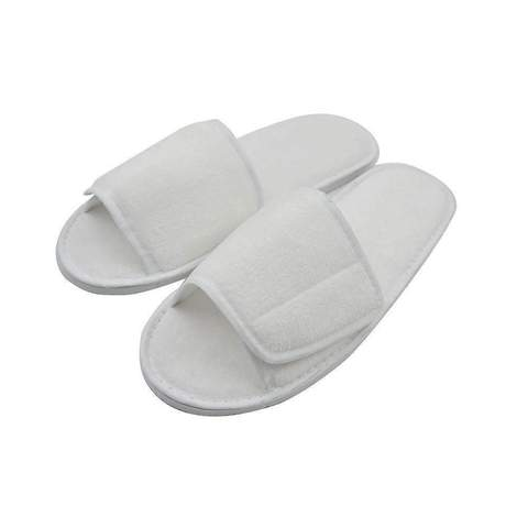 VELVET SLIPPERS WITH VELCRO OPENING