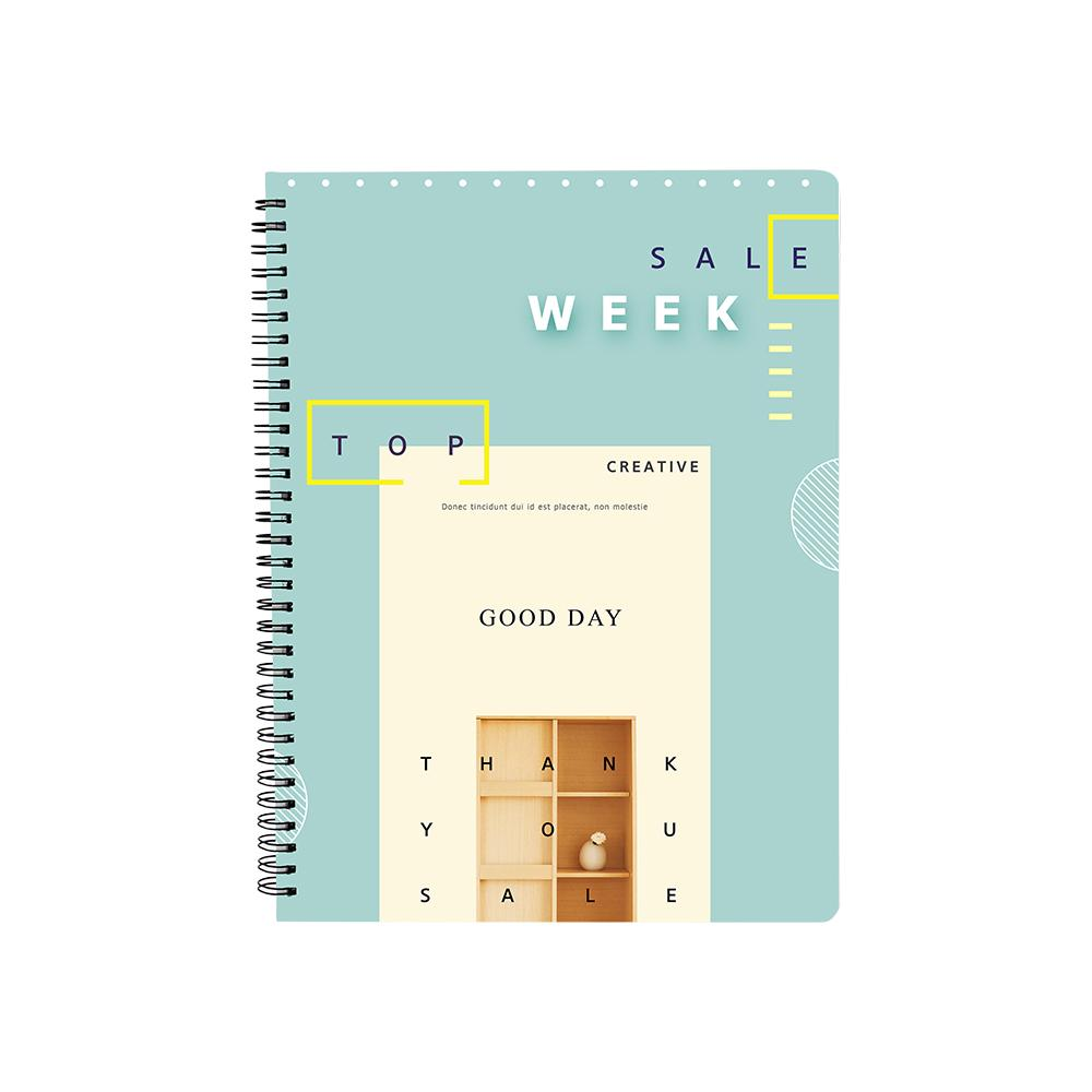 SPIRAL NOTEPAD PLASTIC COVER A4