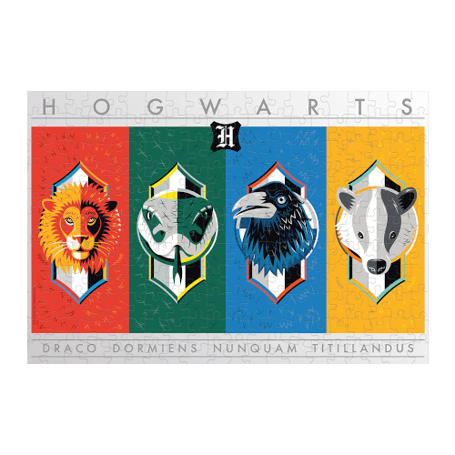 Harry Potter Jigsaw Puzzle - 500pc House Crests