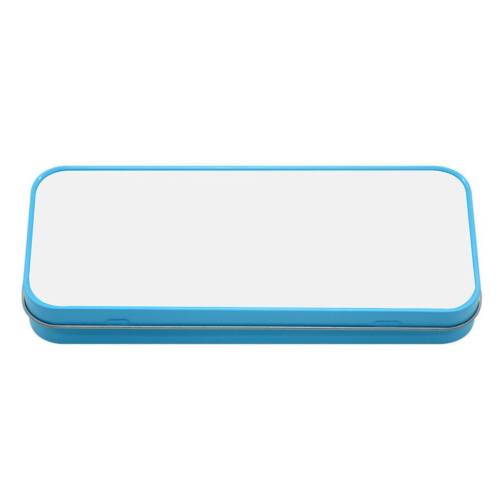BLUE STATIONARY METAL TIN