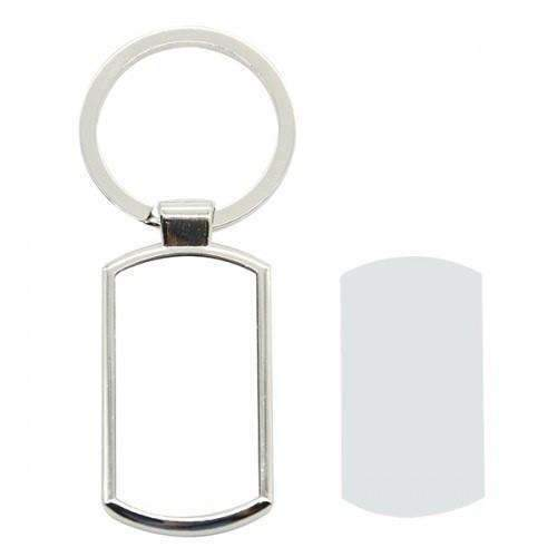 OBLONG METAL KEYRING