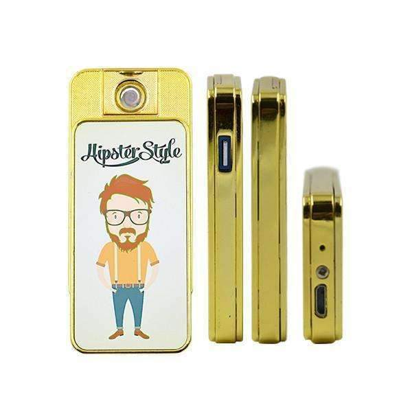ELECTRIC USB RECHRGABLE LIGHTR - GOLD