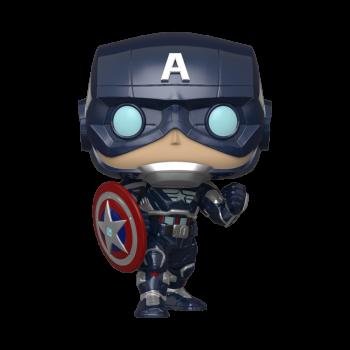 Funko POP! Avengers Game - Captain America (Stark Tech Suit) Vinyl Figure 10cm