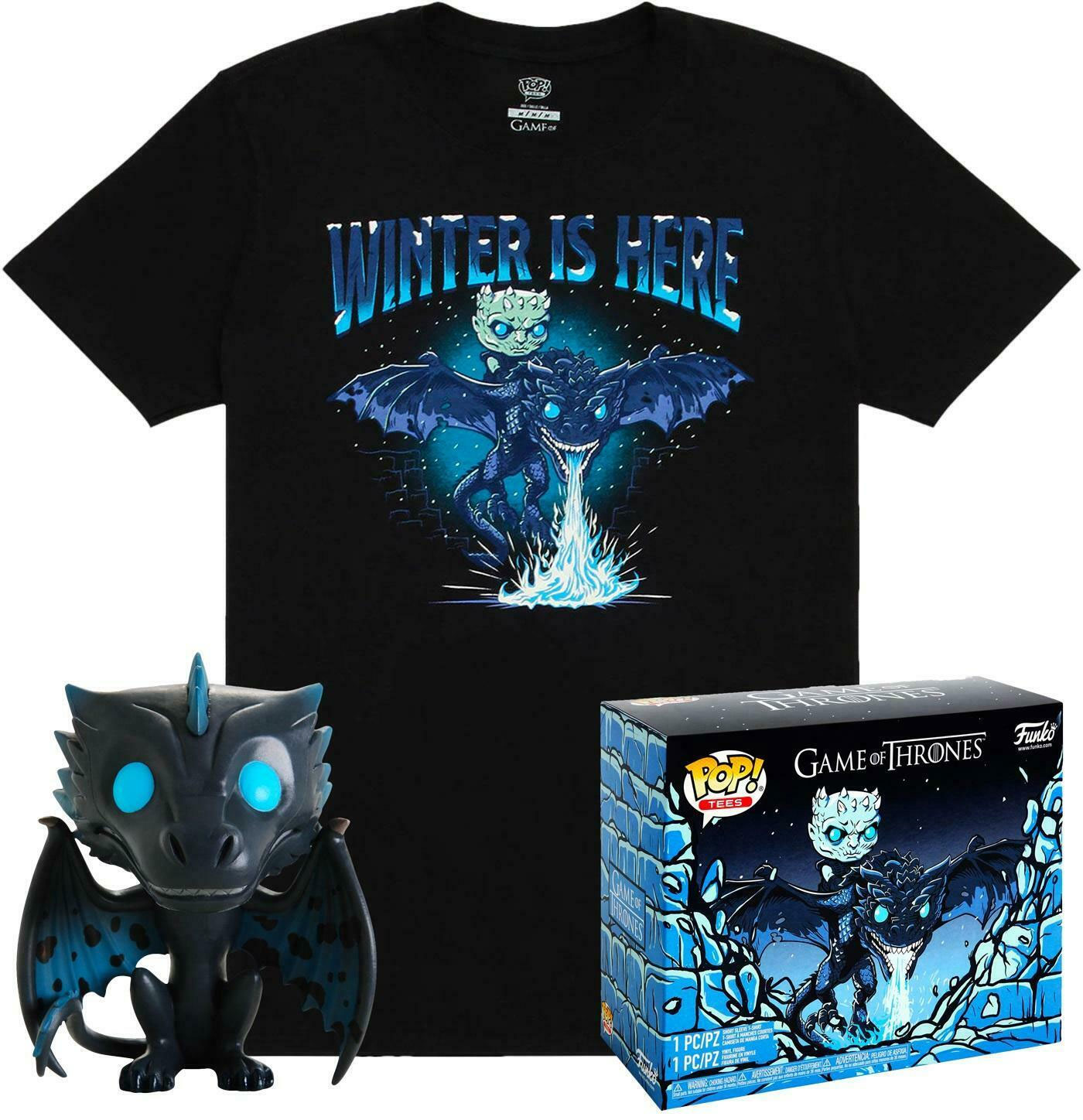 Game of Thrones POP! & Tee Box Icy Viserion Exclusive