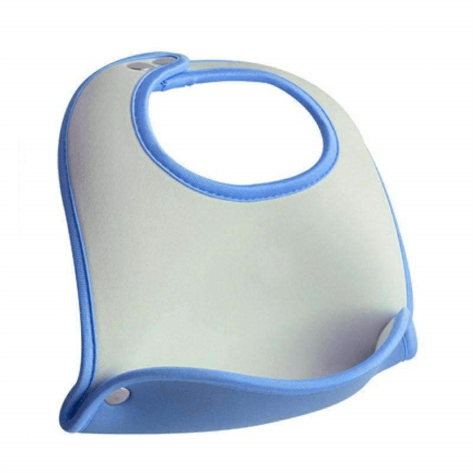 Blue Pocket Baby Bib