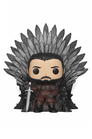 Game of Thrones POP! Deluxe Vinyl Figure Jon Snow on Iron Throne 15 cm