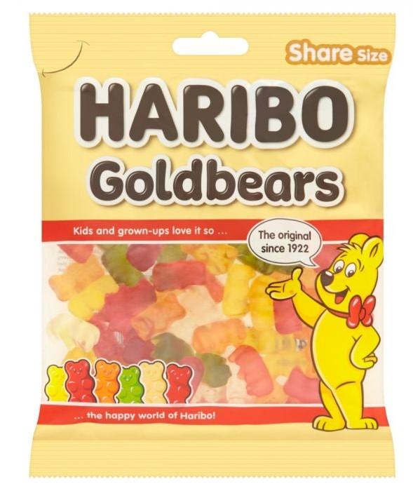 Haribo Gold Bears Share Bags 140g