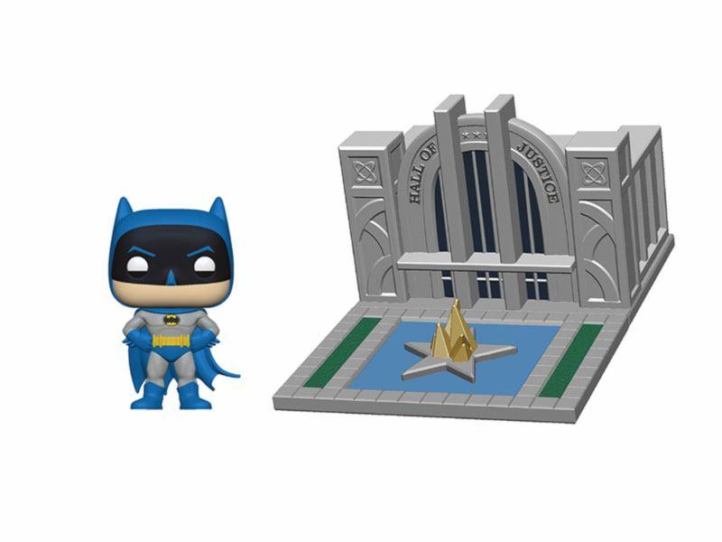Batman 80th POP! Town Vinyl Figure Batman & Hall of Justice 9 cm