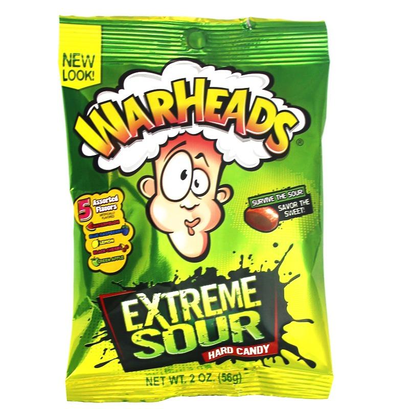 Warheads Peg Bag Hard Candy 56g