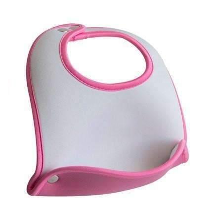 Pink Pocket Baby Bib