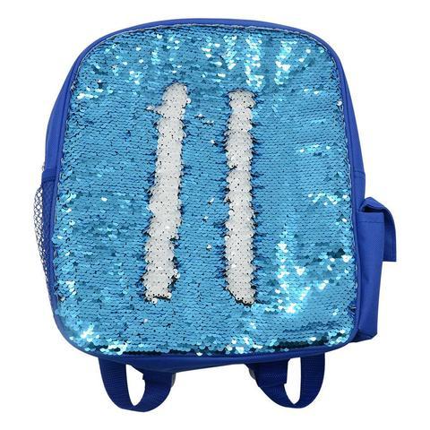 Kids Blue Sequin Backpack