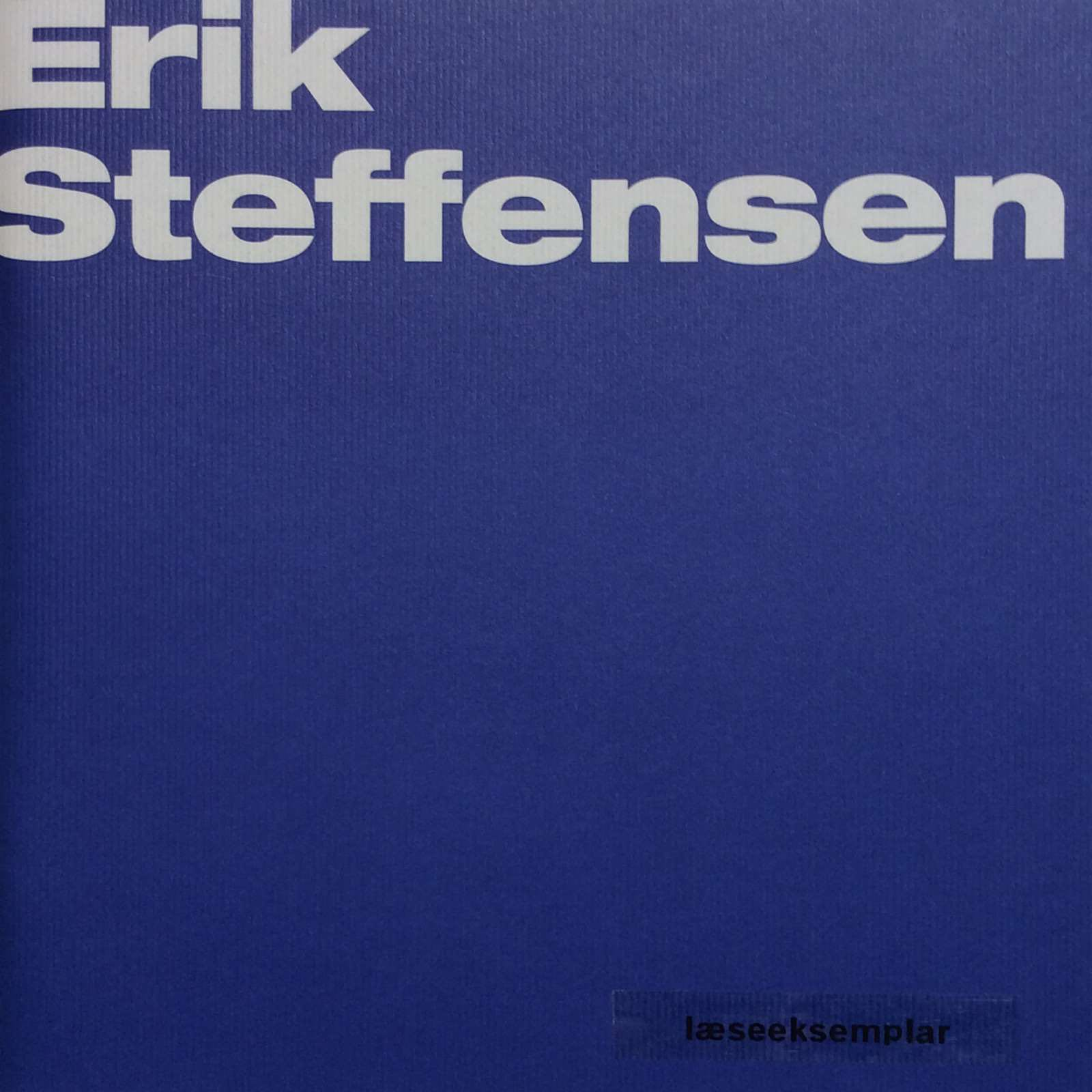 Bjerregaard, Galleri Bo. Erik Steffensen - Blue notes