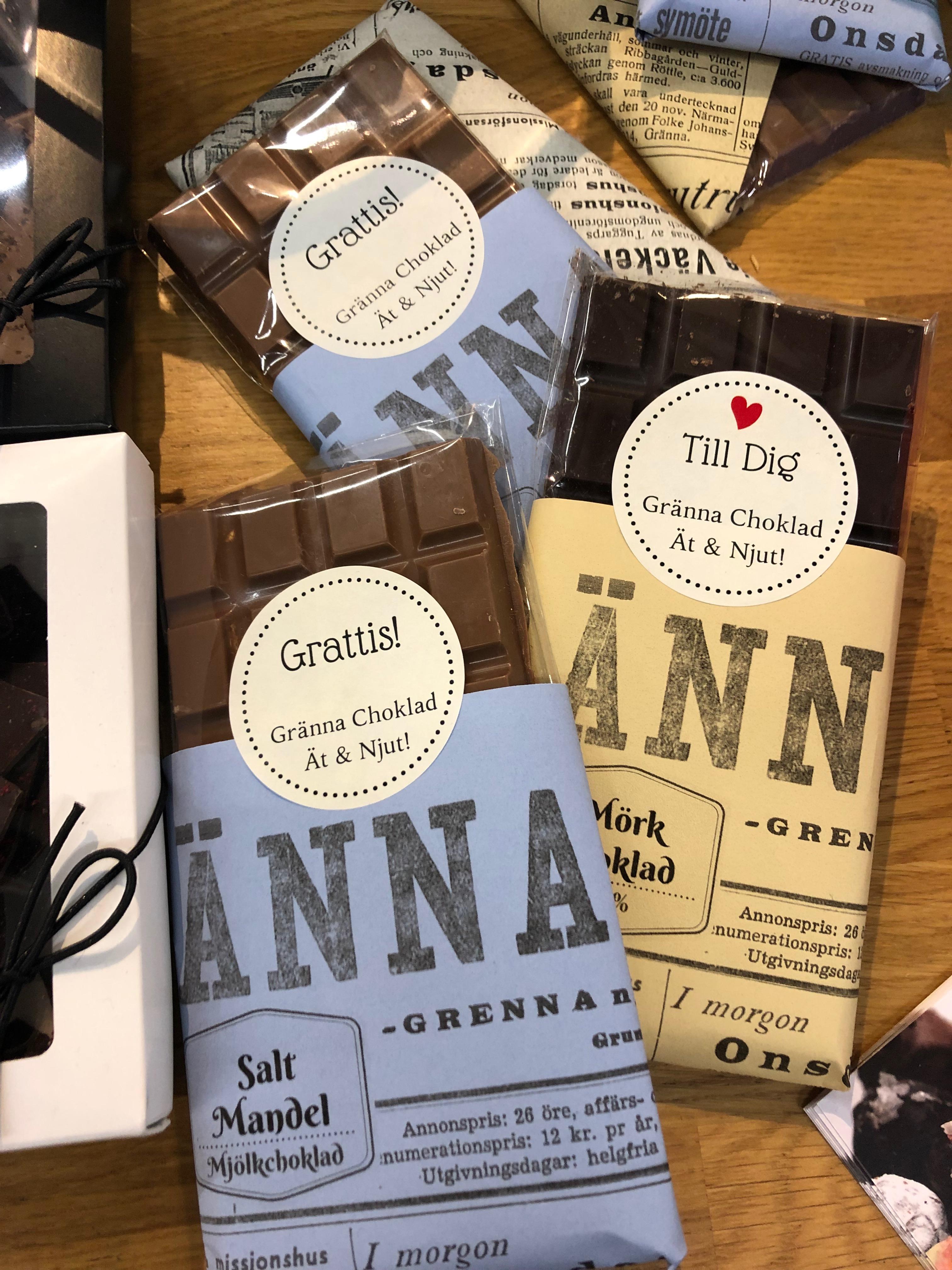 Chokladkaka med budskap