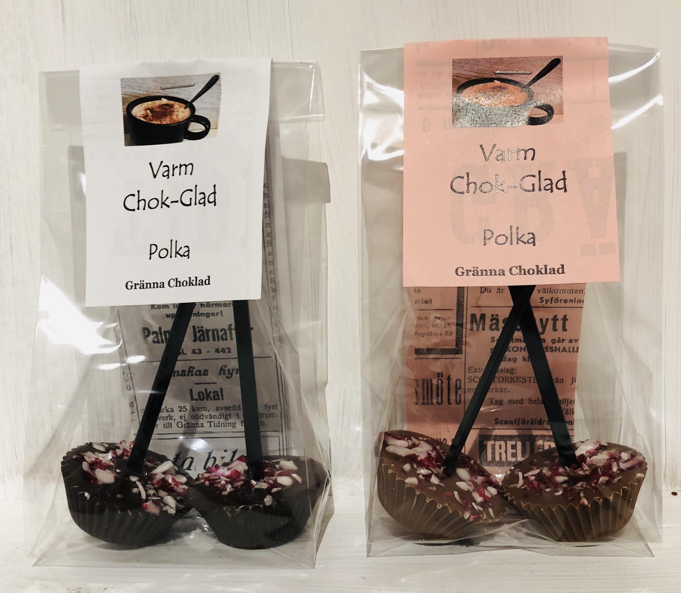 Chokladmjölksklubba Mörk Polka