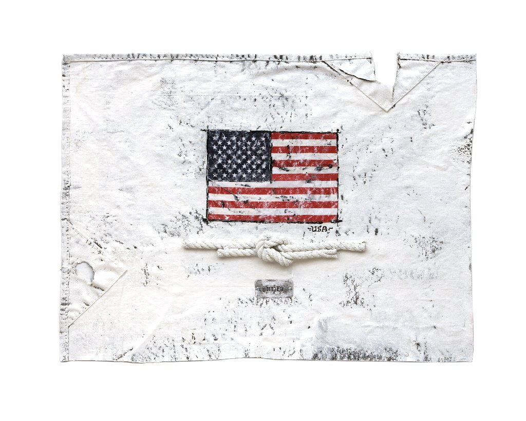Emanuel - US flag on canvas
