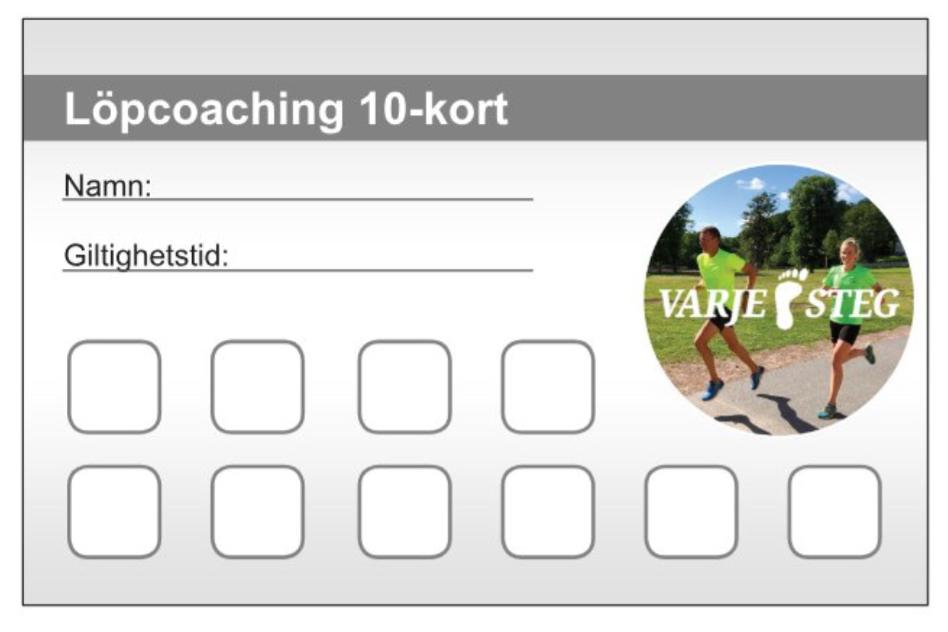 10-kort Löpcoaching