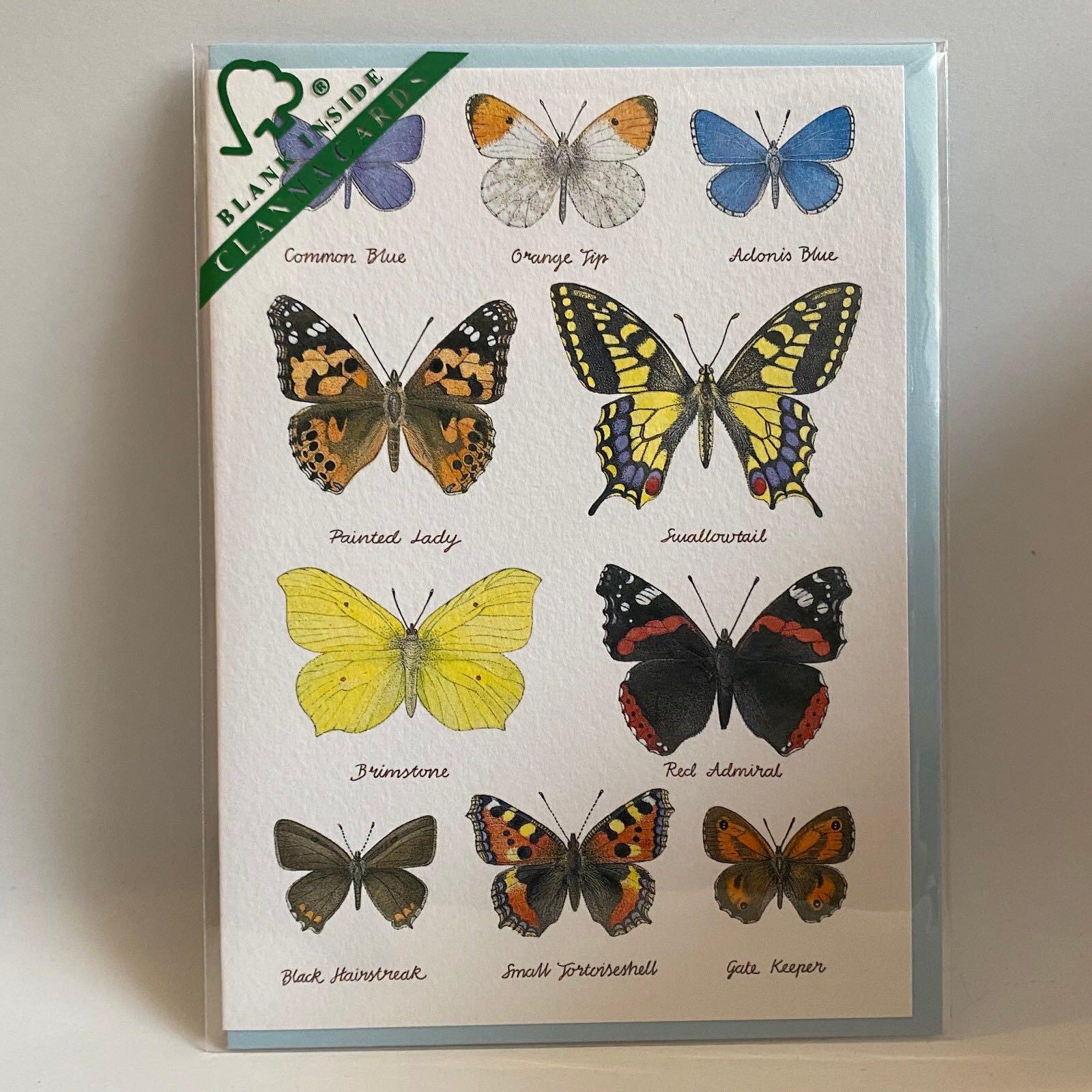 'Butterflies' Clanna Card