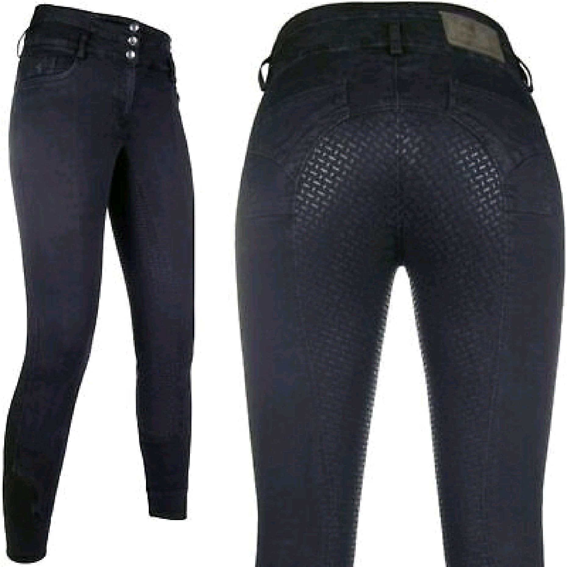 HKM CM Black Denim Jodphurs
