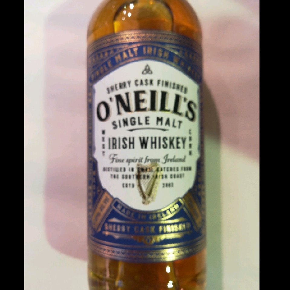 O'Neill's Single Malt Whiskey Sherry Caskk Finished Irish Whiskey