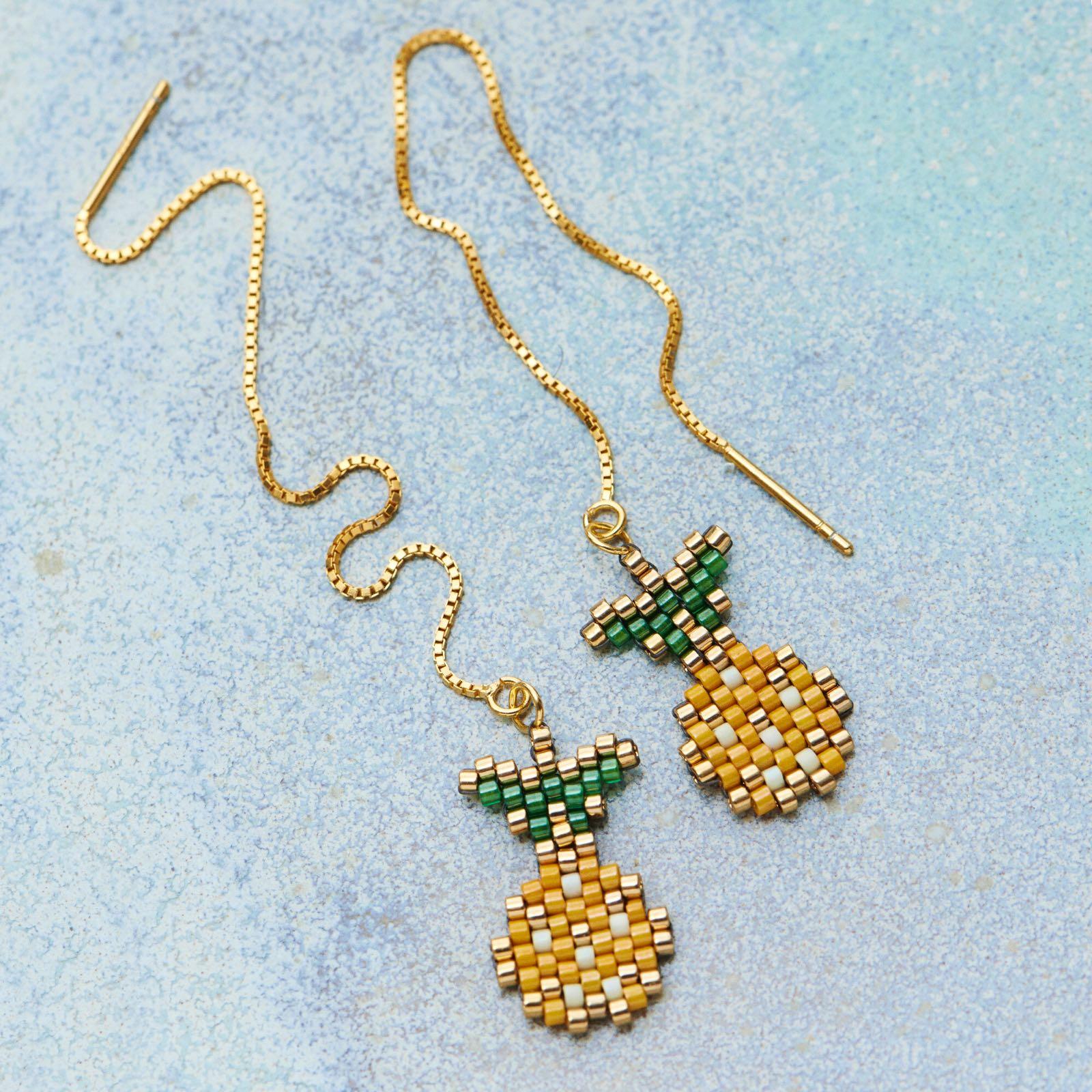 EMMAS - Ørekæde med ananas