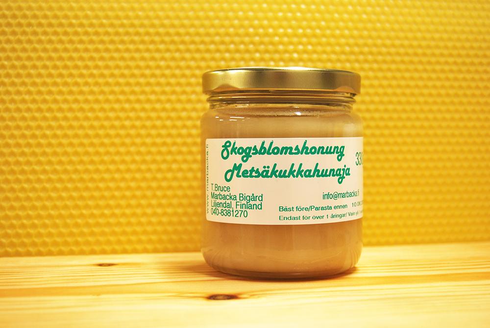 Metsäkukkahunaja 330 g, lasipurkki