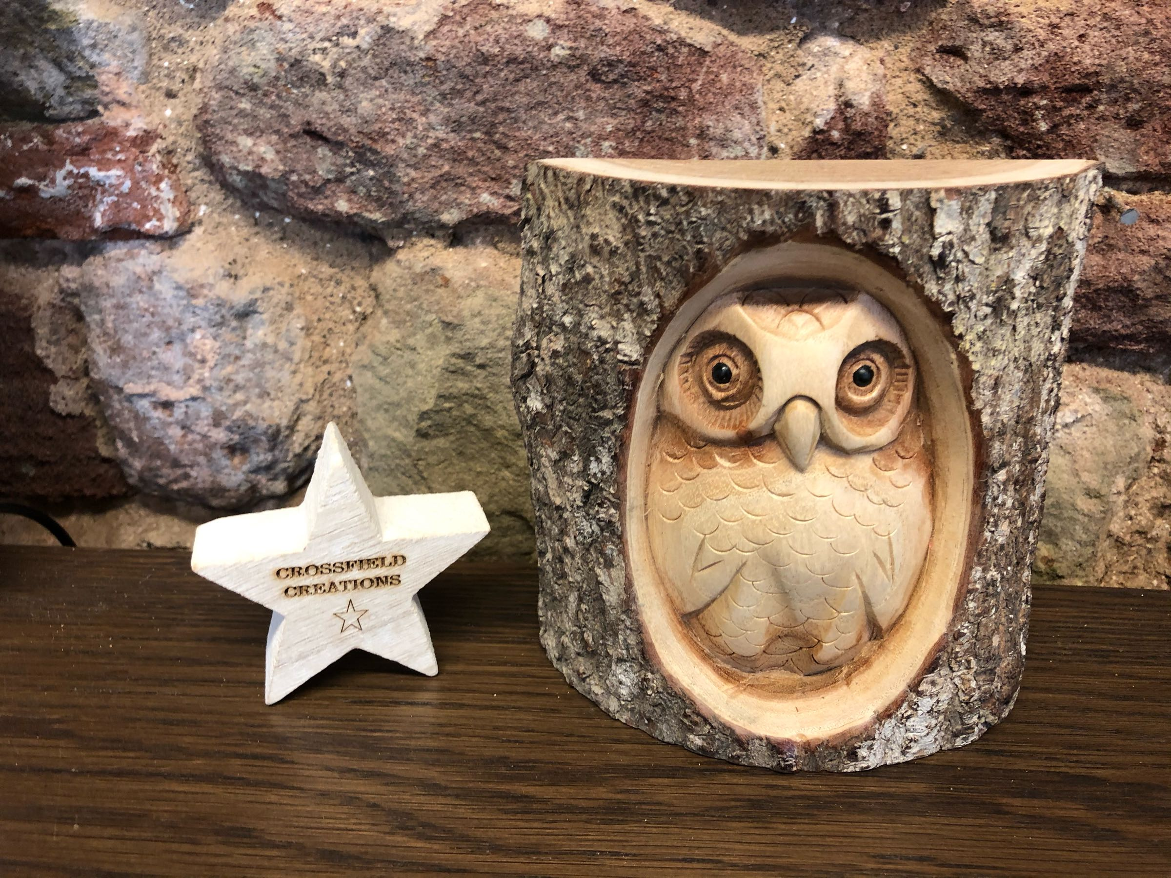 Carved Log Owl