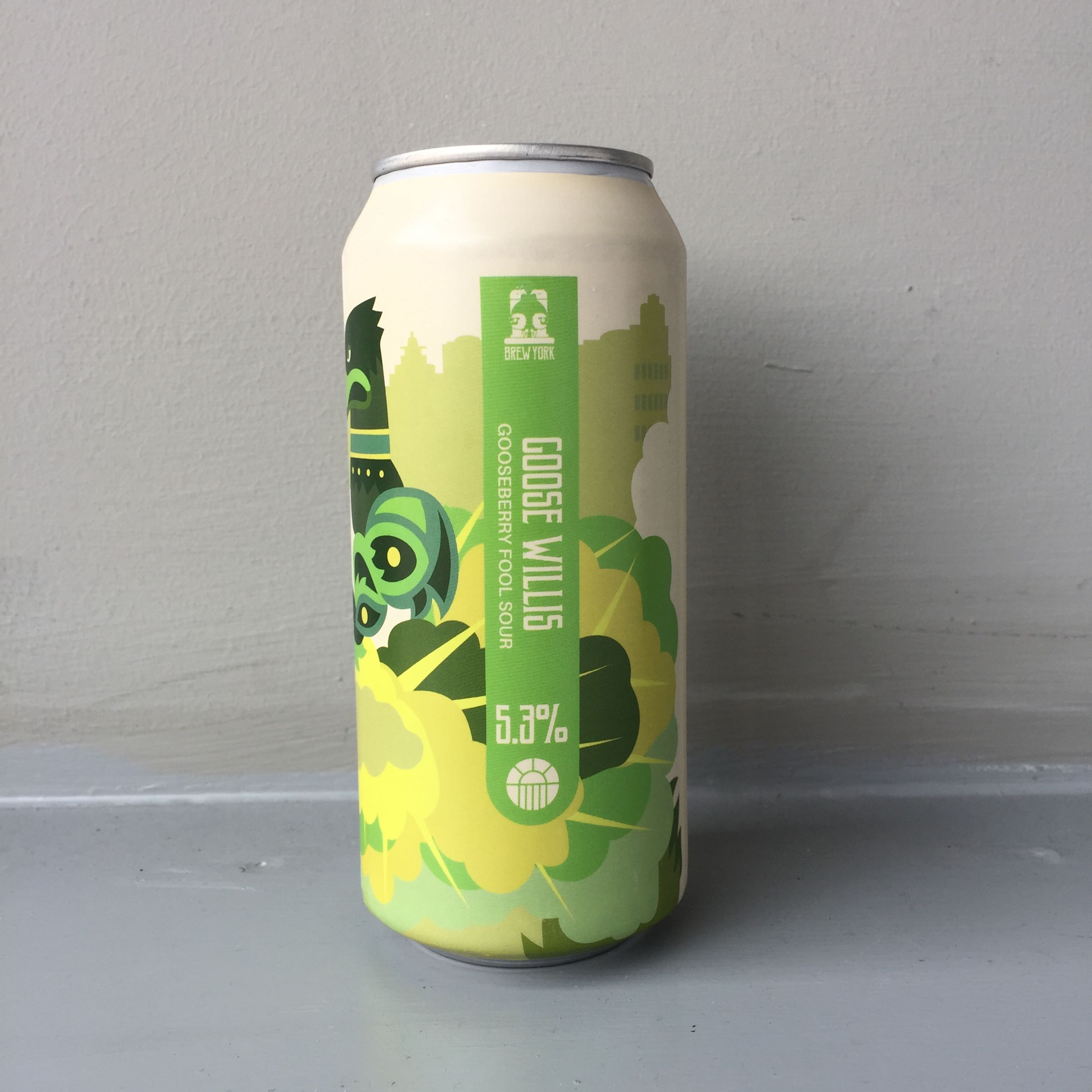 Brew York 'Goose Willis' Gooseberry Fool Sour 440ml 5.3% ABV